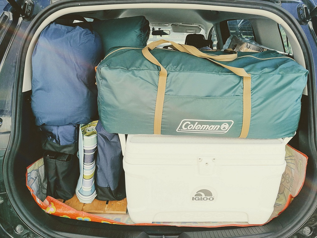 車への荷物の積み込みは前日までに終わらせておく