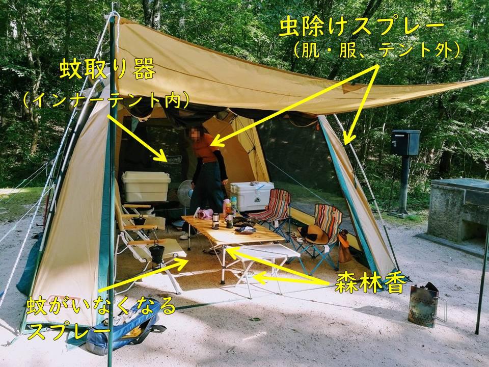 夏キャンプ虫対策